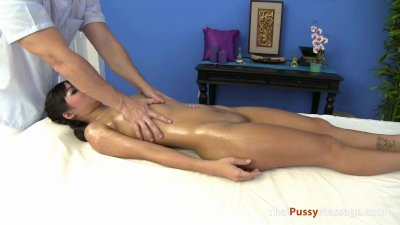 Petite asian amateur fucked by her massage therapist
