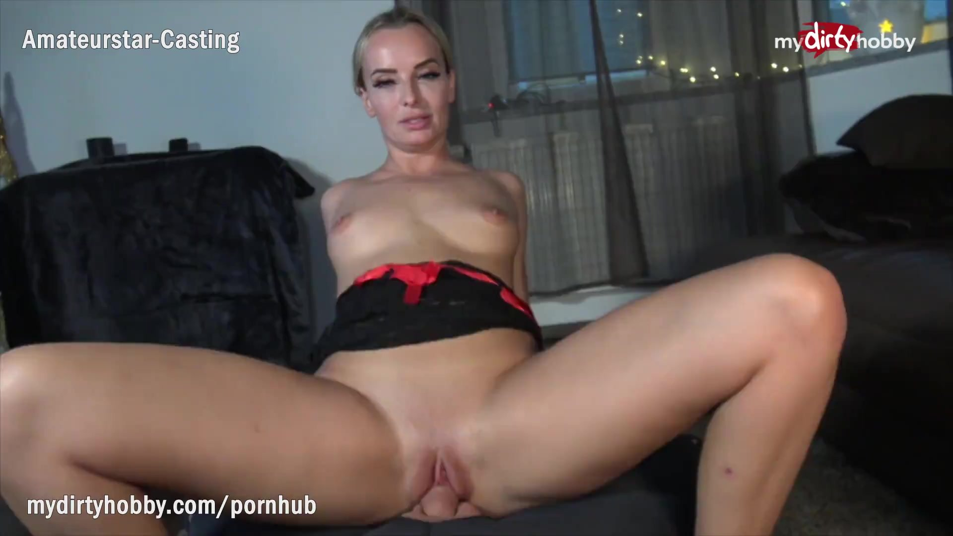 MyDirtyHobby - Blonde MILF twerks on his thick cock while riding reverse cowgirl - POV