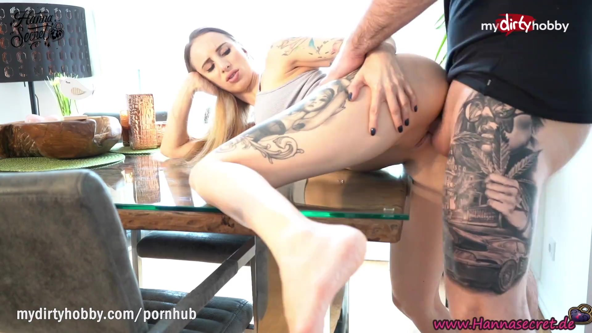 MyDirtyHobby - Fit babe Hanna Secret intense fuck on the kitchen table after the gym