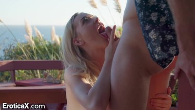 EroticaX - Hot Wife Fucks Other Man Outside At Swinger's Resort