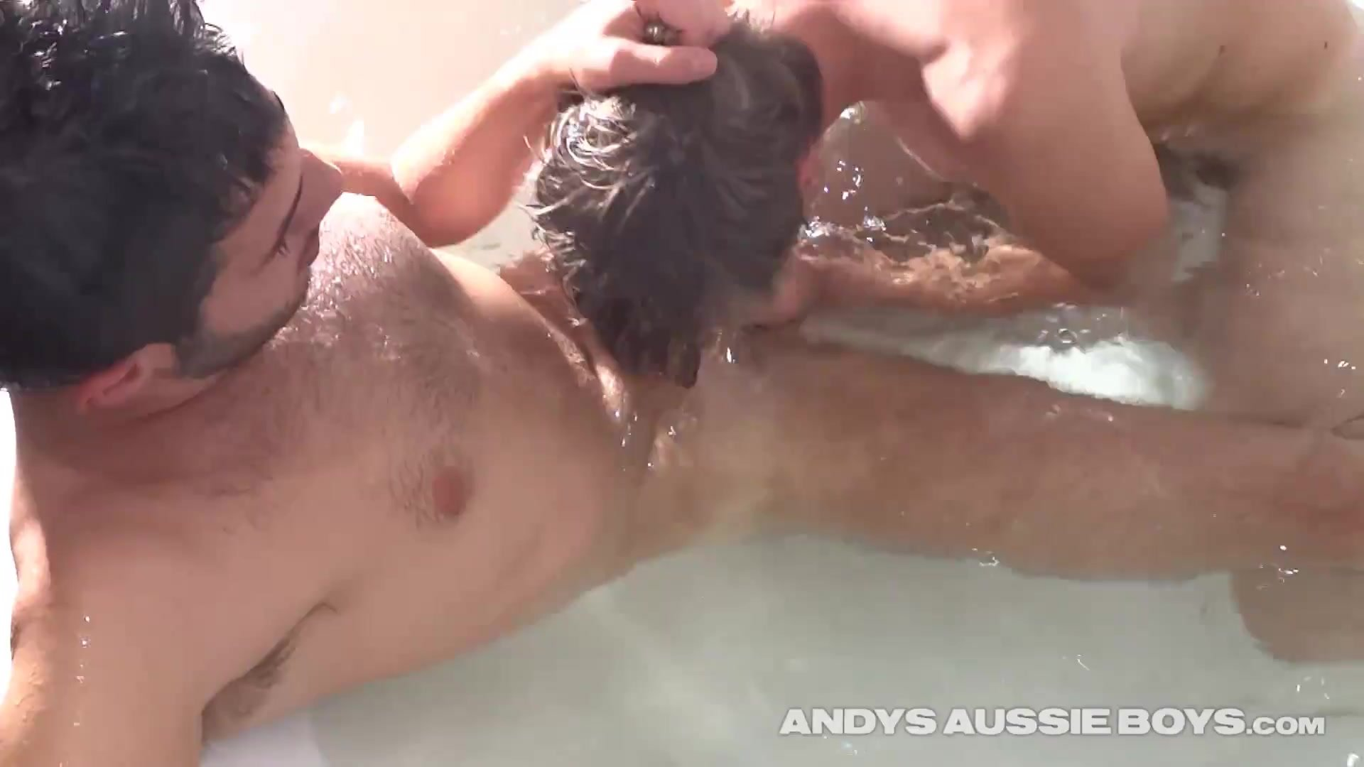 Out Of Control Late Night Australian College Dudes Jacuzzi Sex