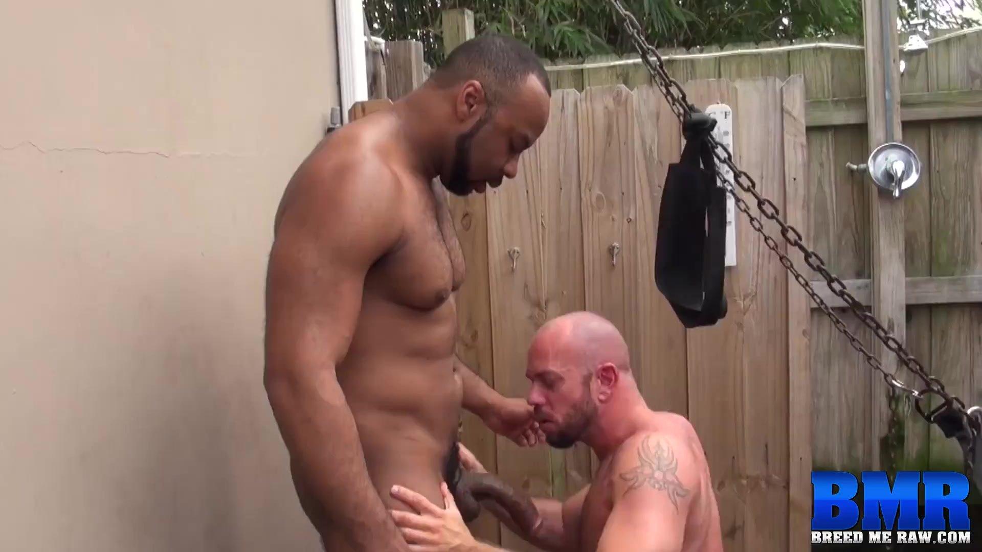 BREEDMERAW BBC Hunk Ray Diesel Fucks Stud in his Backyard