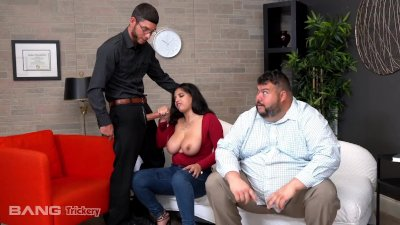 Trickery - Busty Latina Fucks Counselor While Her Ex-Fiance Watches