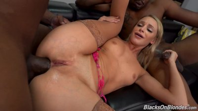 Emma Hix's Music Career Stars With Some Anal Sex And DP With Big Black Cocks