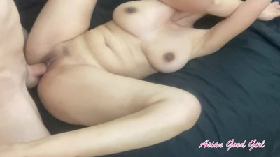 My little Asian pussy gets fucked HARD - big oozing creampie