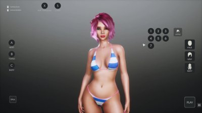 SunbayCity [SFM Hentai game] Ep.1 Wandering around in a sexy red one piece swimsuit in a GTA parody